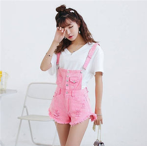 CbuCyi Women Playsuit Denim Overalls for Women Bodycon Short Rompers Womens Jumpsuit Cotton Combinaison Short Femme Jumpsuits-cigauy