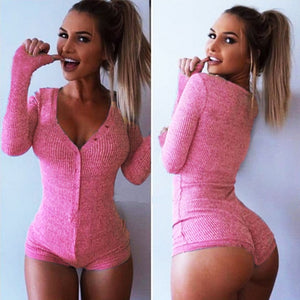 2018 New S-XXXL New Women Jumpsuit Sexy Lady V Neck Long Sleeve Bodycon Bandage Jumpsuit Rompers Plus Size Black Tight Bodysuit-cigauy