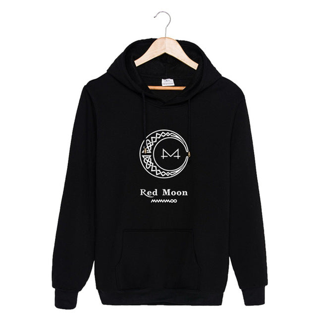 KPOP MAMAMOO Album RED MOON K-POP Hoodies Hip Hop Hooded Tops Pullovers Sweatshirts PT880-cigauy