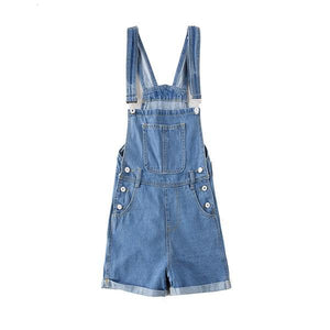 Short Denim Skinny Jumpsuits Women Summer Casual Overalls Slim Pencil Shorts Female High Waist Romper Hot Femme Clothing 2018-cigauy