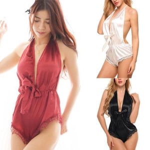 New Fashion Sexy Women Summer Lace Floral Bodysuit Sexy See Through Sexy Night Wear Playsuit For Female Hot Bodysuit-cigauy