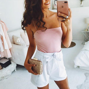 Women Sleeveless Bodysuit Jumpsuit Romper 2018 Summer Ladies Strap One Piece Bodycon Stretch Leotard Tops-cigauy