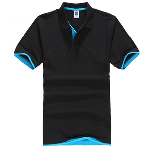 FALIZA 2018 New Brand Camisa Polos Shirt Men Design Breathable Cotton Casual Short Sleeve Mens Polos Shirts Plus Size XXXL TX107