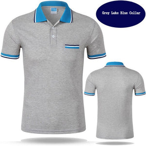 Brand Clothing Men's Polo Shirt Short Sleeve Men Cotton Solid Casual polo shirts Men Brand Polo Fashion Slim Fit Polos S-3XL