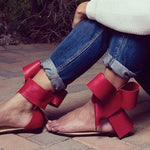 Thong Slip-On Plain Bow Sandals