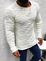 Mid-Length Round Neck Plain Slim Winter Sweater