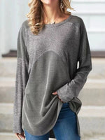 Round Neck Mid-Length Sweater