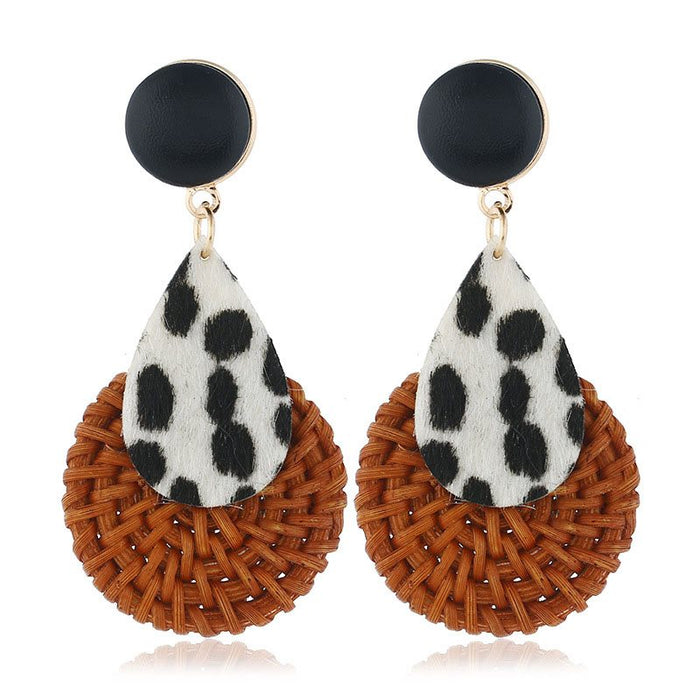 Leopard Alloy European Anniversary Earrings