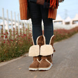 Preppy Lace-up Flat Boots