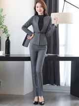 Solid Color Two-Piece Formal Suit