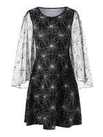 Halloween Spider Web A-Line Dress
