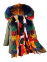 Colorful-Braided Cotton Coat for Women