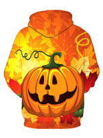 Halloween Pumpkin Long Sleeve Sweatshirts Hoodie