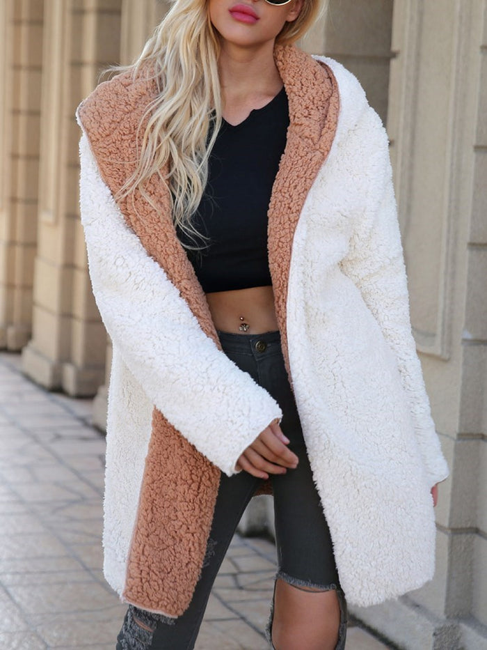 Double-sided Wearable Thick Plush Long Coat