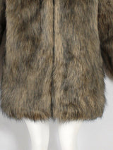 New Faux Fur Women's Overcoat