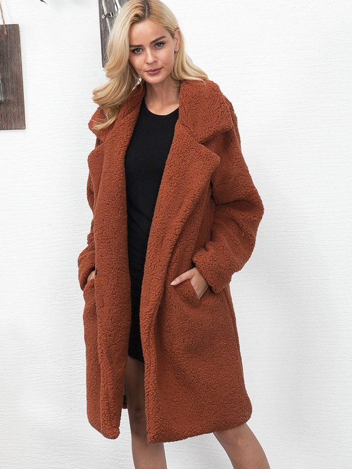 Autumn And Winter New Faux Fur Casual Coat