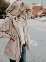 Autumn And Winter New Cardigan Hooded Coat