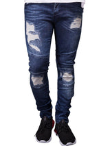 Denim Micro-Elastic Pencil Pants Men's Jeans