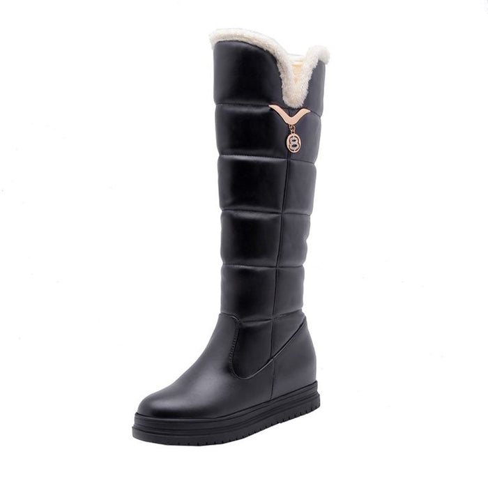 Winter Short Floss Round Toe Snow Boots