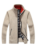 Cardigan Zipper Men's Sweater