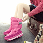 Platform Short Floss Round Toe Snow Boots