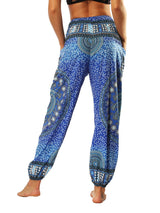 Polyester Geometric Print Spring Full Length Yoga Pants