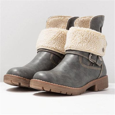 Round Toe Side Zipper Boots