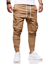 Plain Casual Mid-Waist Casual Pants