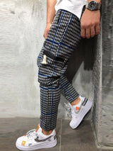 Color Block Zipper Pencil Pants Mid Waist Four Seasons Casual Pants