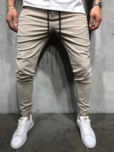 Plain Pencil Pants Lace-Up Spring Casual Pants
