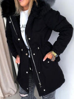 Worn Zipper Standard Long Sleeve Loose Trench Coat