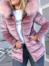 Lace-Up Thick Zipper Standard Cotton Padded Jacket