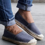 Plus Size Canvas Comfy Women Slip-On Loafers