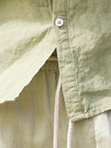 Stand Collar European Plain Single-Breasted Spring Shirt