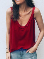 Backless Summer Polyester Mid-Length Tank Top