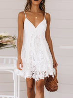 V-Neck Sleeveless Lace Summer Date Night/Going Out Dress