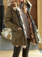 Patchwork Loose Fall Long Overcoat