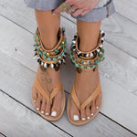 Zipper Flip-flops Beach Sandals Boho Sandals