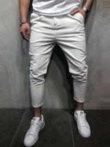 Pencil Pants Plain Mid Waist European Casual Pants