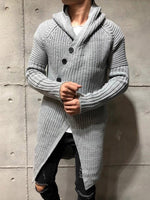 Button Plain Mid-Length Loose Casual Sweater