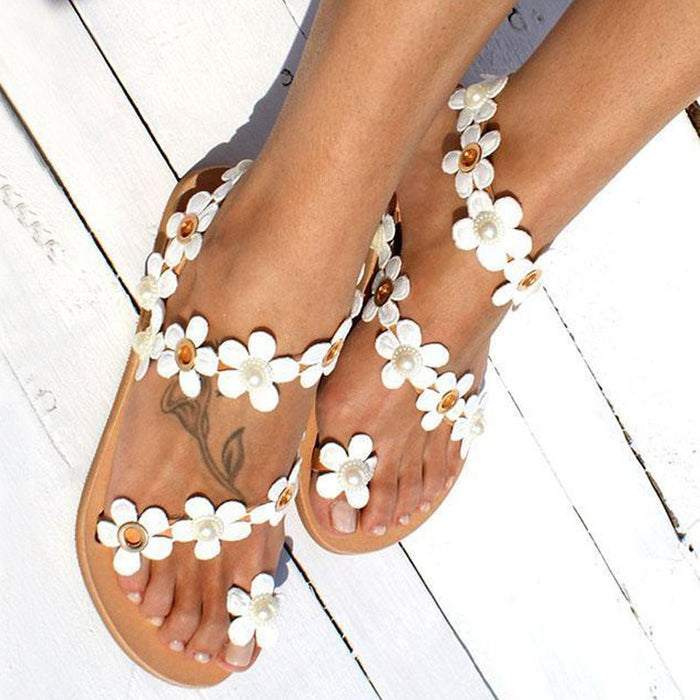0d4464b447ab Slip-On Thong Flat With Beach Western Sandals – Leatrend
