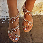 Summer Casual Toe Ring PU Flat Sandals