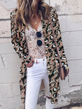 Wrapped Print Regular Mid-Length Long Sleeve Sweater