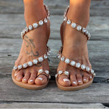 Flat With Slip-On Thong Beach Sandals