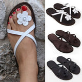 Flat With Slip-On Thong Western Summer Slippers