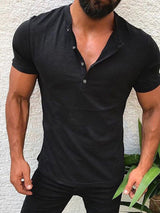 Plain European Slim Short Sleeve T-shirt