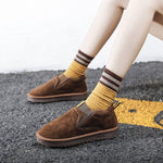 Round Toe Flat With Slip-On Casual Boots