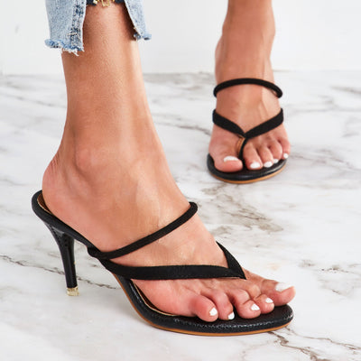 Slingback Strap Stiletto Heel Thong Slip-On Casual Sandals