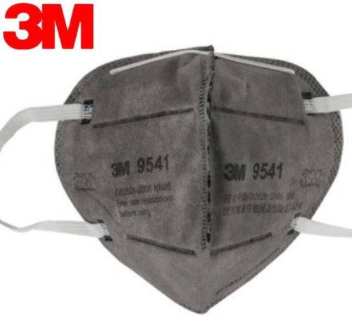 3M KN95 9541 Particulate Respirators (Earloop, Activated Carbon, No Valve) - FDA Approved for Covid-19 Protection