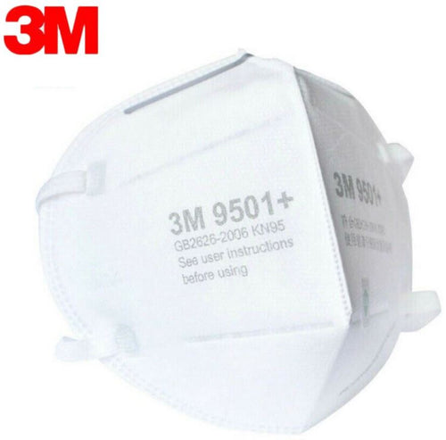 3M KN95 9501+ Particulate Respirators (Earloop, No Valve) - FDA Approved for Covid-19 Protection